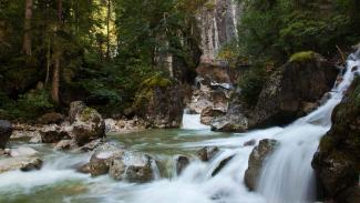 135.-The-King-Ludwig-Way---Tumbling-cascades-in-the-gorge-below-Neuschwanstein-castle