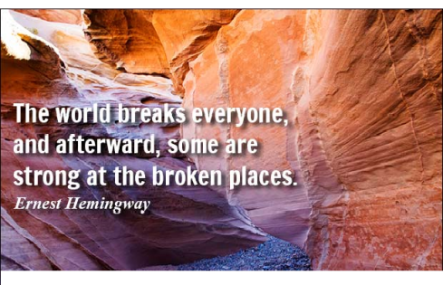 some are strong at the broken places