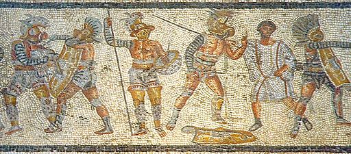 512px-Gladiators_from_the_Zliten_mosaic_3