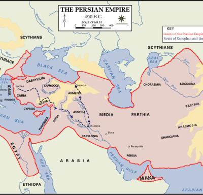Anabasis Persian_Empire,_490_BC