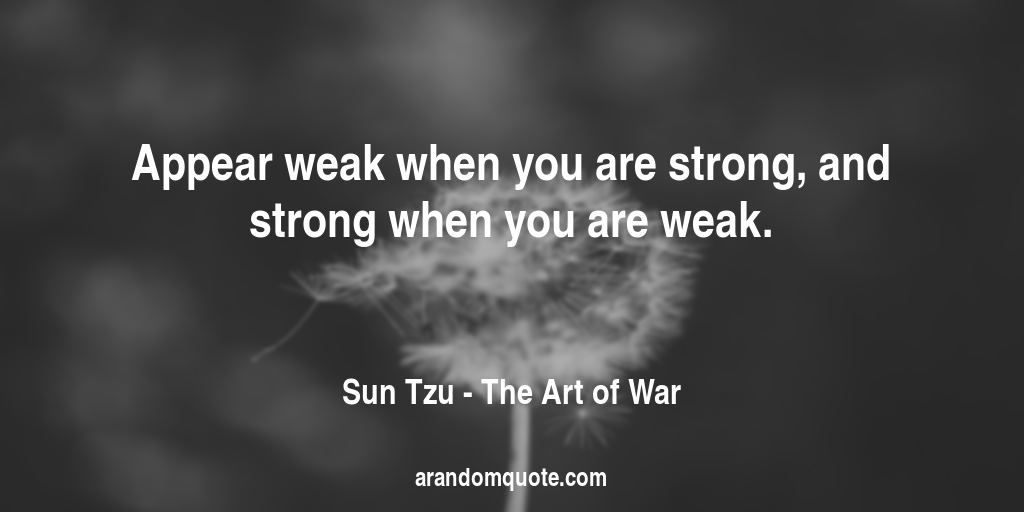 appear strong when you are weak renaissance man journal