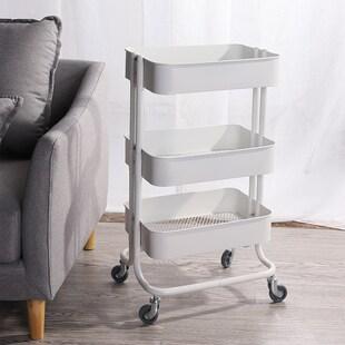modern kitchen cart oak chairs 拉斯克 北欧简约现代小推车三层移动厨房置物架储物架拉