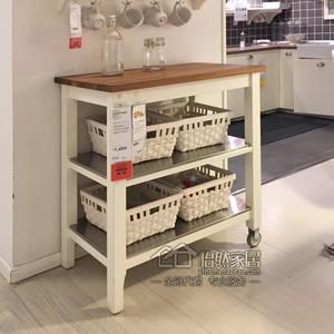 oak kitchen cart base cabinets with drawers 宜家斯坦托厨房推车 宜家斯坦托厨房推车品牌 图片 价格 q友网 span class h 宜家 斯坦托厨房