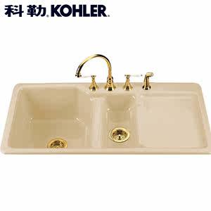cast iron kitchen sinks pull out drawers 科勒厨房铸铁水槽 科勒厨房铸铁水槽品牌 图片 价格 q友网 span class h 科勒 厨盆