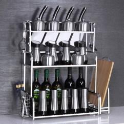 Kitchen Wall Mounted Cabinets Cool 2 3 多层不锈钢厨房用品调味料调料置物架落地 壁挂式橱柜省空间 惠淘党 包邮2