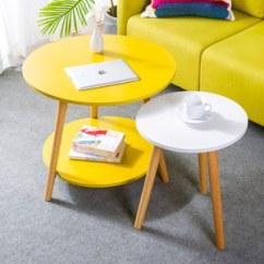 White Round Kitchen Table Remodeling Ideas On A Small Budget 圆形白色小桌子价格 最新圆形白色小桌子价格 批发报价 Q友网 包邮特价北欧现代简约黄白色圆形小茶几沙发边角几