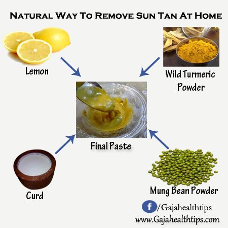 Home Remedy to Remove Skin Tan