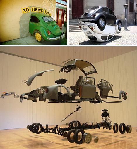 vw bug art cars