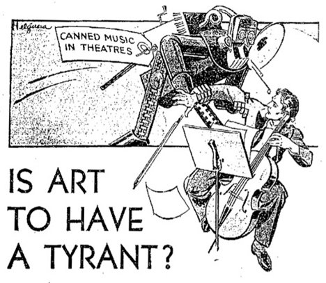 When Robots Were Enemies: 30s Anti-Recorded Music Ads