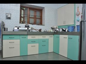 furniture for kitchen floating island modular pvc designer in ahmedabad kaka sintex color combination
