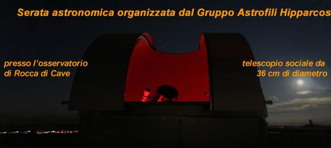Serata astronomica organizzata dal Gruppo Astrofili Hipparcos