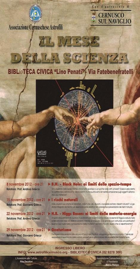 Il mese della scienza 2012 - Associazione Cernuschese Astrofili