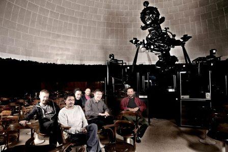 """Foto dei Deproducers per il loro nuvo spettacolo """"Planetario"""""""