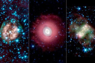 Cranium Nebula, Ghost of Jupiter Nebula e Little Dumbbell Nebula