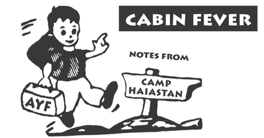 Cabin Fever: Notes From Camp, Part I