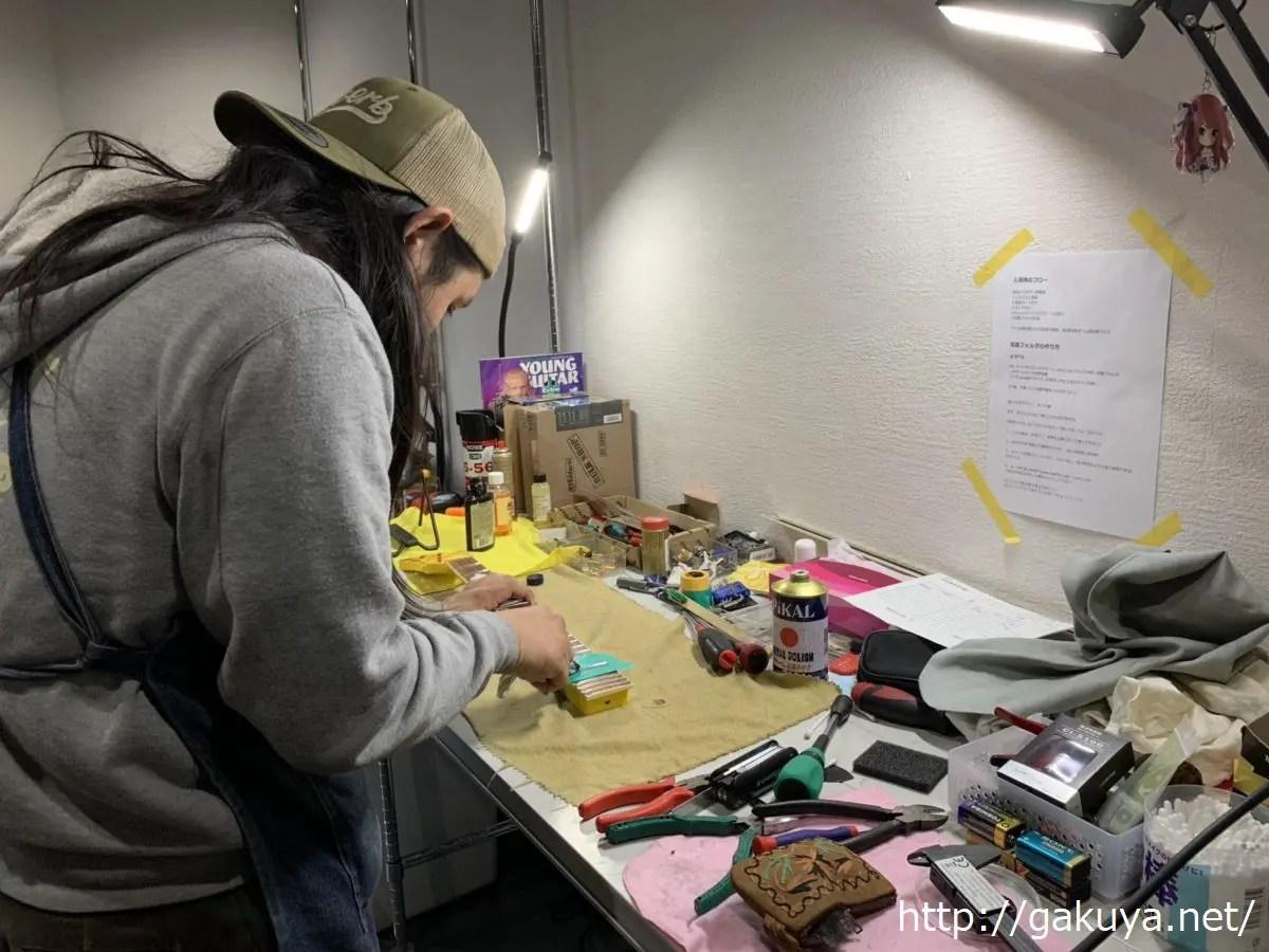 楽器の買取屋さんのギター修理
