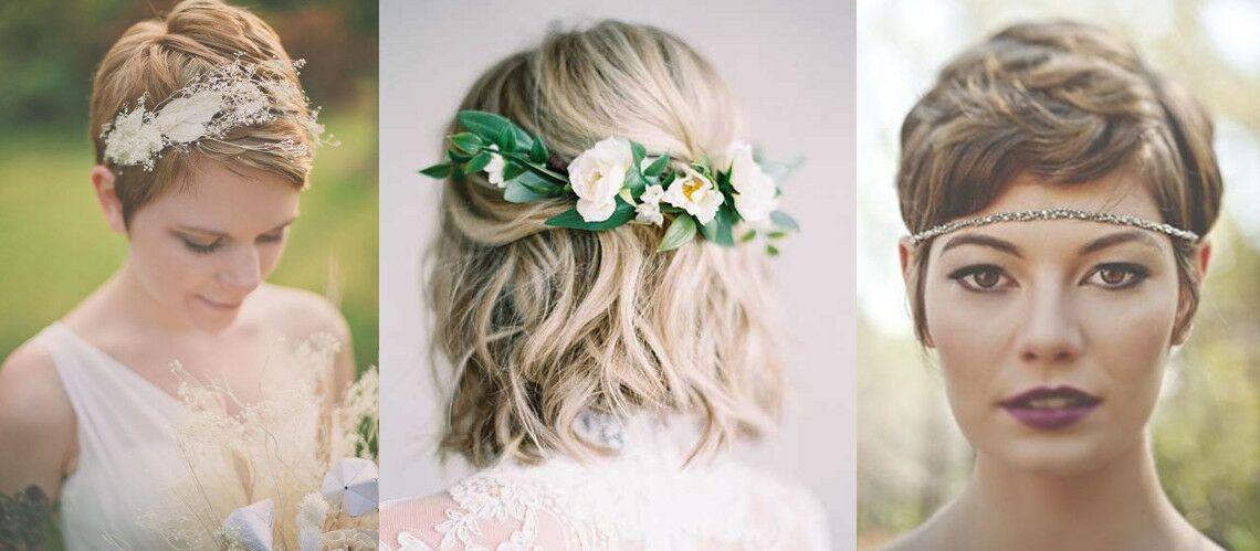 Coupe de cheveux  les 20 plus belles coiffures de mariage pour cheveux courts  Gala