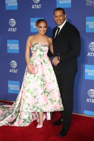 Jennifer Lopez et son fiancé Alex Rodriguez