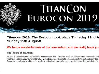 Eurocon/Titancon 2019