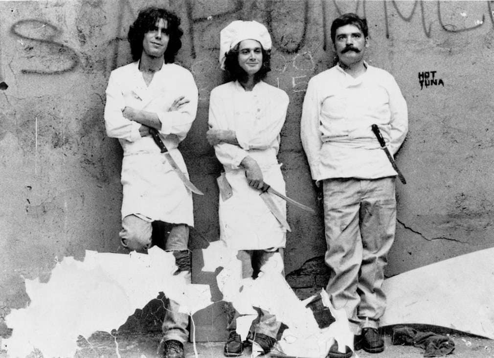 Anthony Bourdain in the 1980s. He began working in kitchens in New York after graduating from the Culinary Institute of America in the late 70s.jpg