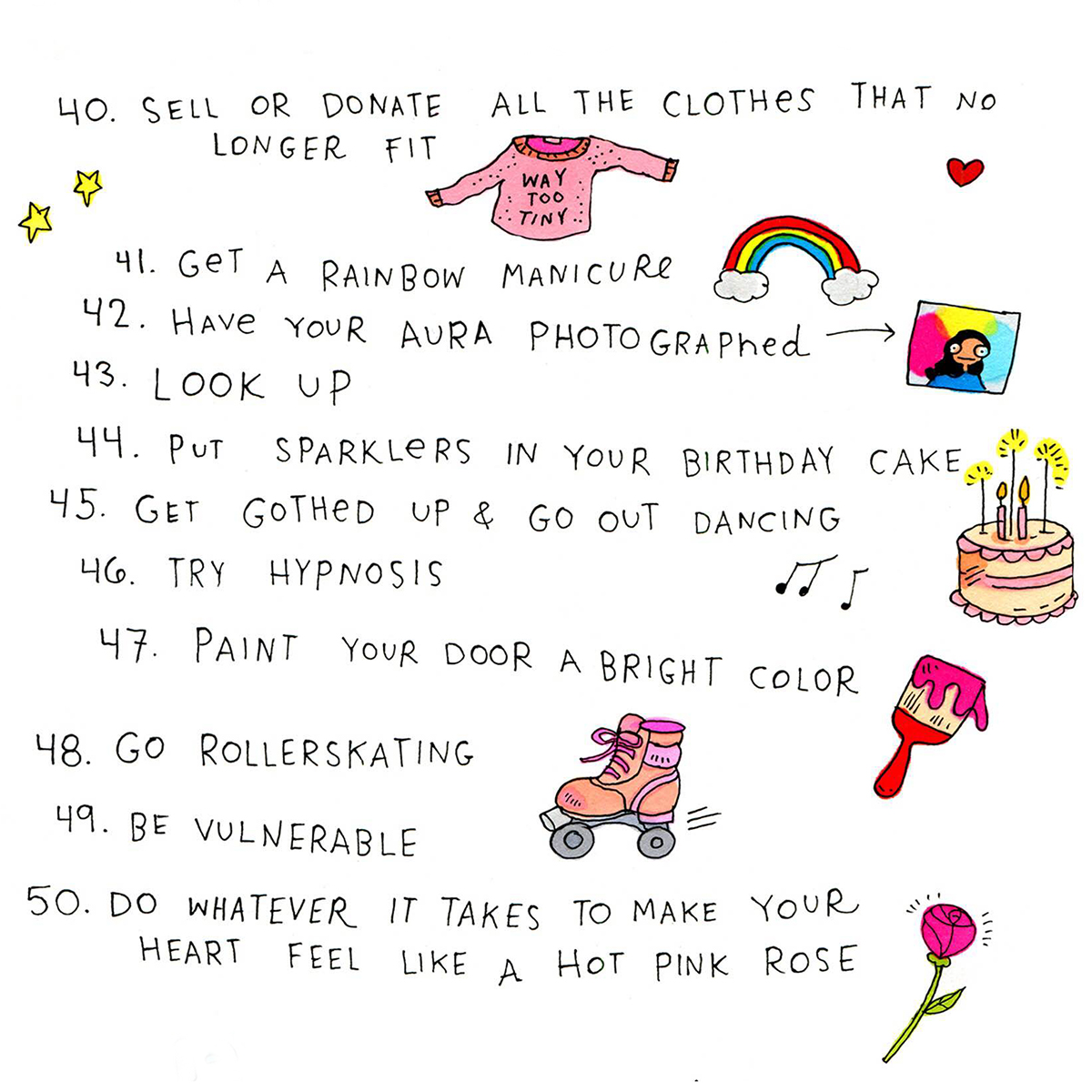 50 Things To Do In An Illustrated List