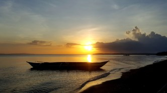 Sun set by the beach of Sabang