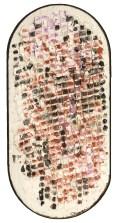""""""" cigliegio """" -2007, cm 70x120, mixed on wood"""