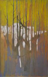 """ gocce-in-rami "" -2006, cm 125x222, mixed on wood"