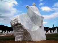 """ rock stars and beduin "" - 2008, cm 300x200x150, santo spirito marble, VIII sculpture symposium, santa caterina, brazil"
