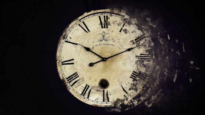 clock time fading away