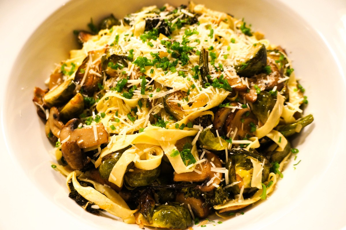 Truffle and Fall Vegetable Tagliatelle