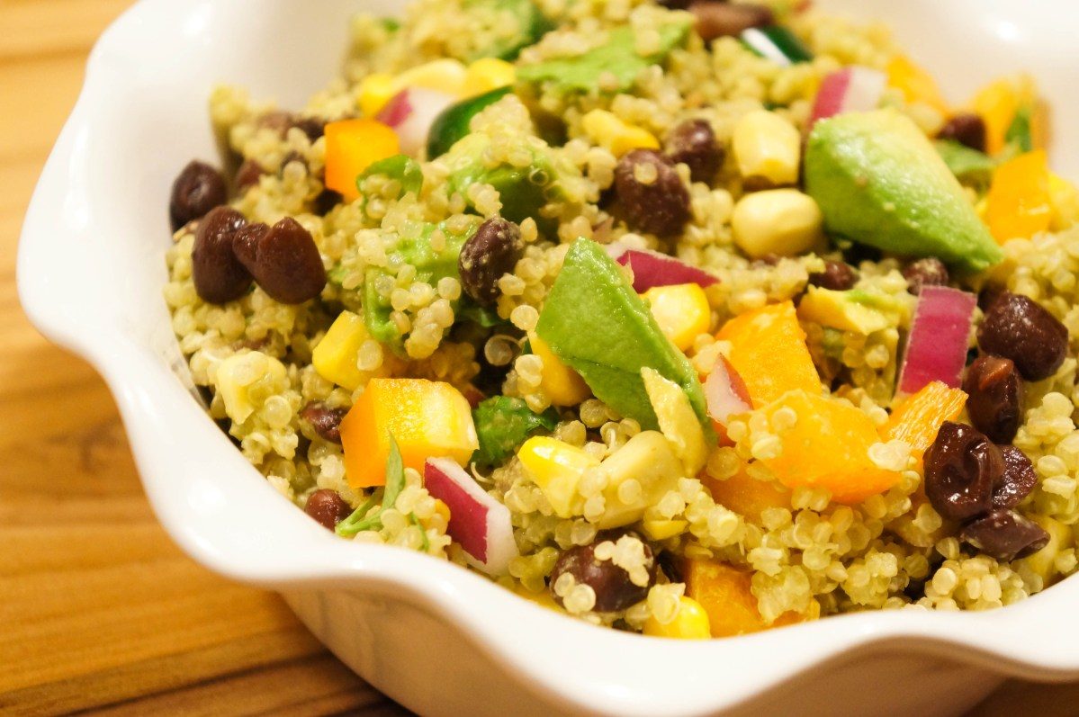Quinoa, Black Bean & Avocado Fiesta Bowl