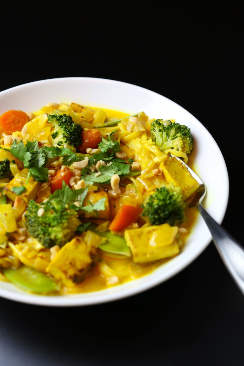 Thai Coconut Yellow Curry with Udon