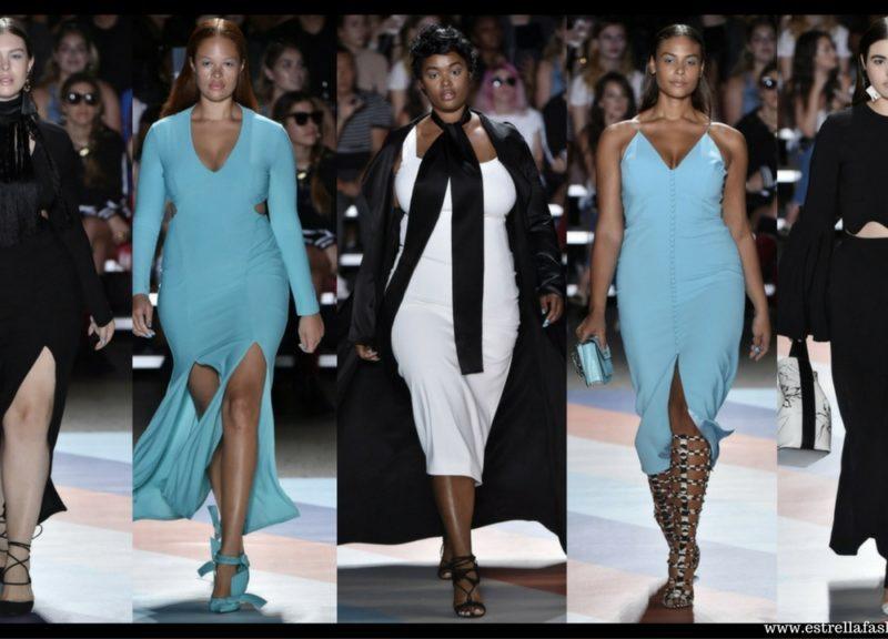 modelki plus size w pokazie Christiana Siriano
