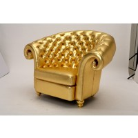 Gold Tufted Chair - Gala Rentals