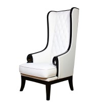 High Back Tufted Chair - Gala Rentals