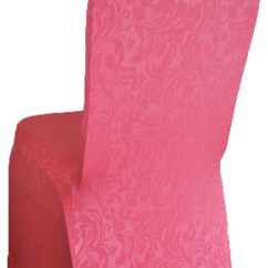 Chair Covers Vintage White Wood Chairs Wedding Embossed Spandex Cover Coral Gala Rentals