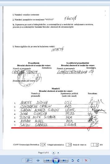 saizu gabriel 2012 parlamentare membru UER 5