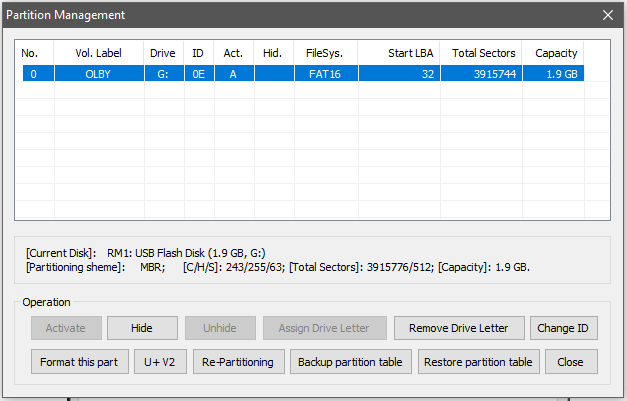 Partitionner une clé USB ou Carte SD