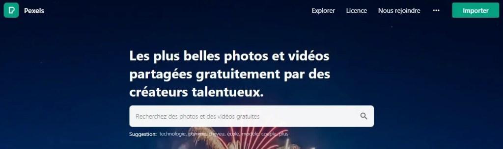 Pexels est aussi une des alternatives à Pixabay pour des photos gratuites