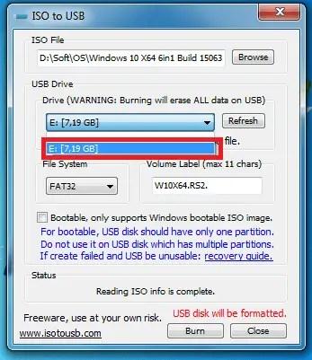 Télécharger ISO To USB Windows Pour Créer Une Clé USB Bootable
