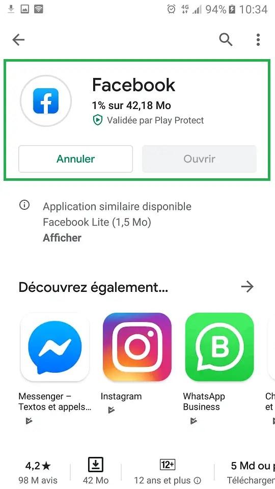 Comment installer une application avec Google Play