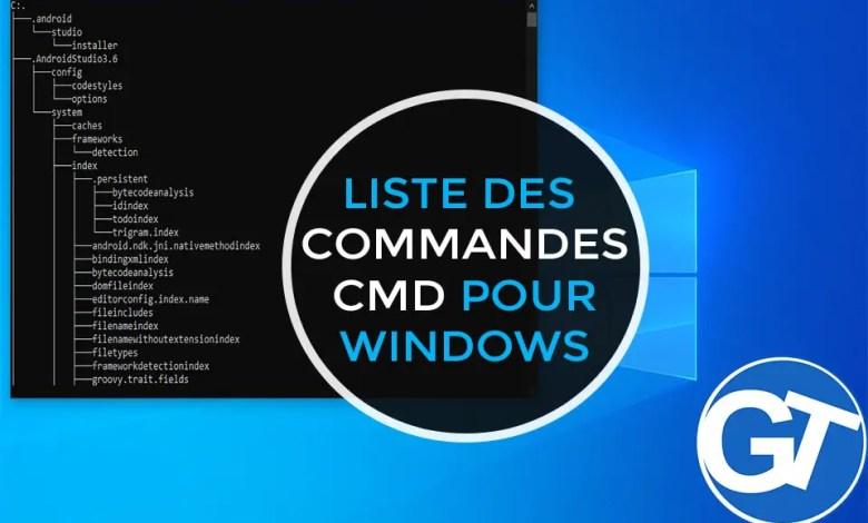 Liste complète des commandes CMD Windows rangée de A à Z