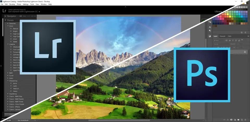Quelle est la différence entre Adobe Photoshop vs Lightroom ?