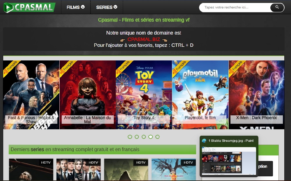 CPasMal - Suivre des films et series gratuit VF