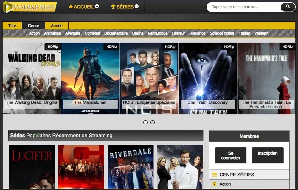 VoirSeries : Site de Streaming gratuit pour les séries VF et VOSTFR