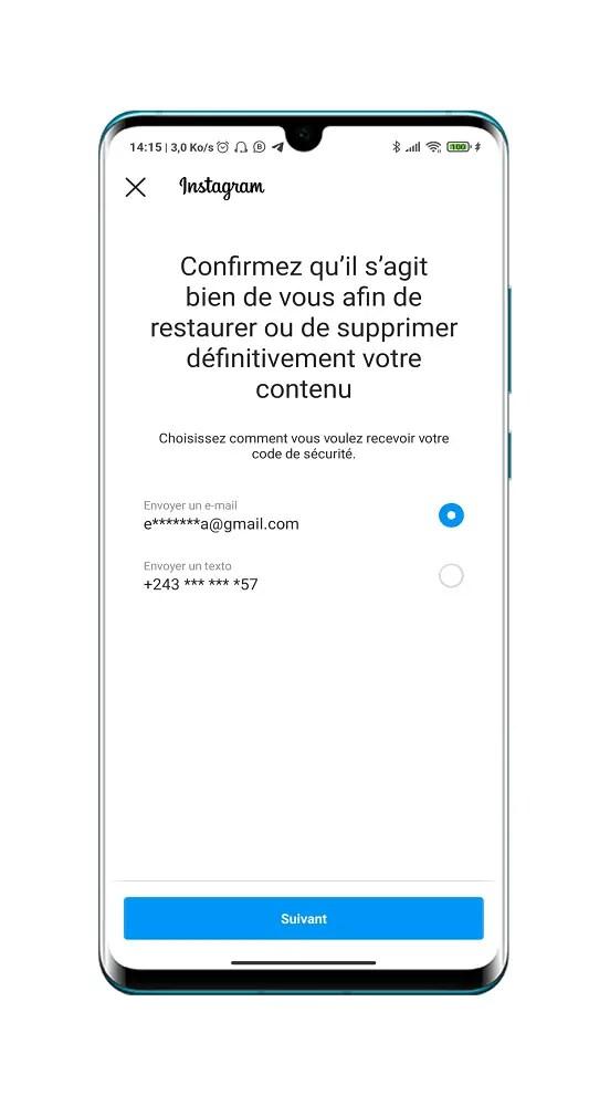 Confirmer l'adresse mail de confirmation