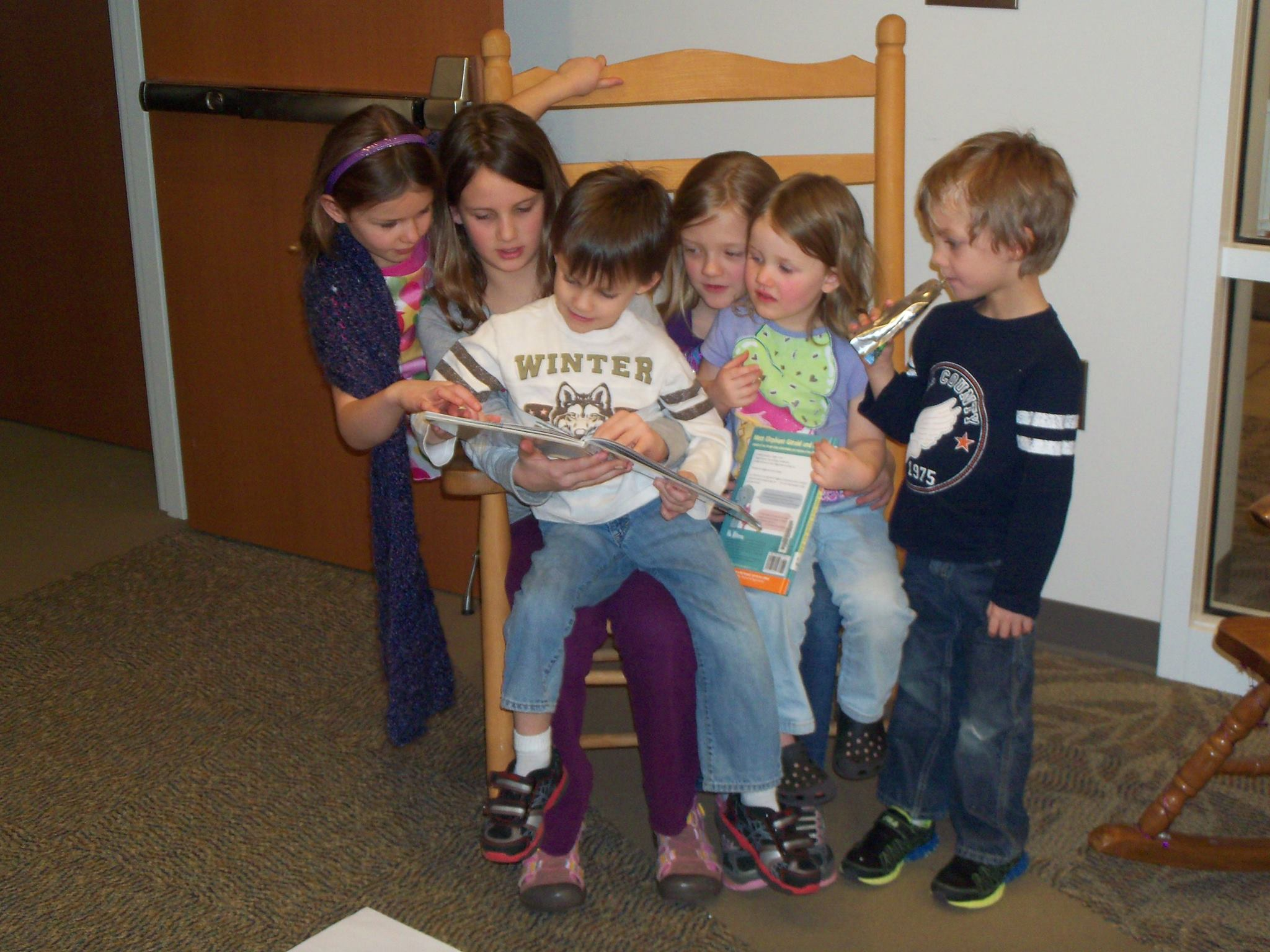 Kids Reading at the Galax Public Library