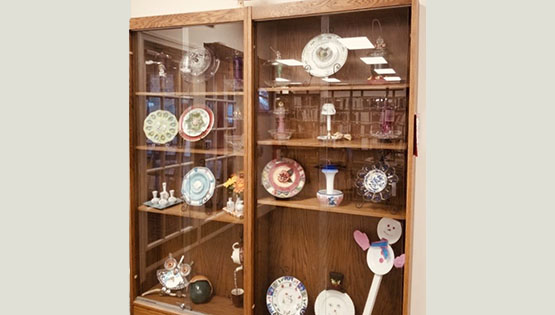Recycled Glassware at the Carroll County Public Library