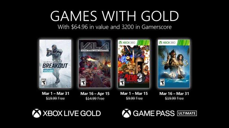 Games With Gold de março de 2021